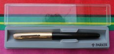 Parker ' 51 ' Custom black with gold plated Cap + Parker Box
