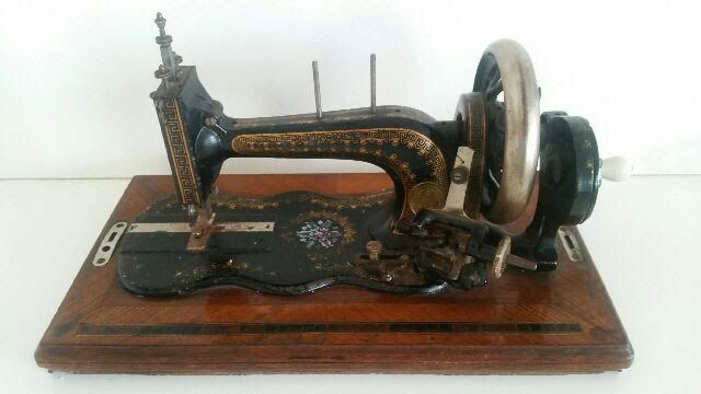 Very Decorative Cast Iron Sewing Machine, ca. 1890