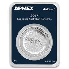 Australia - 1 AUD - 1 oz 999 Silver coin - silver coin - kangaroo 2017 - MintDirect - certified quality