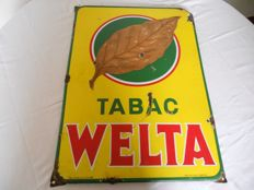 Emaille bord - Tabac Welta 1952