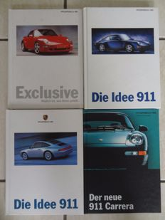 4 x book - Porsche 911 brochure instructions incl. Carrera Preisliste u. Technisches Datenblatt