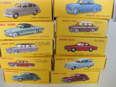 Atlas-Dinky Toys - Scale 1/43 - Lot with 10 models and all informative leaflets, with or without certificate
