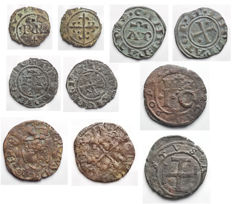 Italian Mints - Brindisi, Messina, Napoli, Chieti Lot of 5 coins in Ae and Mi