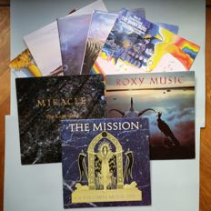 8x LP's The Moody Blues 5x, The Mission, Roxy Music, Miracle