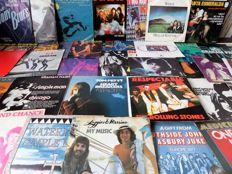 "Lot of 50 7"" singles from the 70's and 80's in VG+/EX condition."