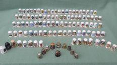 Collection of 111 thimbles