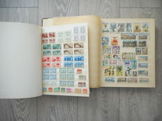 Czechoslovakia  1945/1989 - Collection in 2 stockbooks plus Envelopes and Postcards