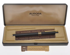 Aurora Marco Polo 302  matte black fountain pen