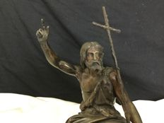 Bronze sculpture representing John the Baptist - France - 19th century
