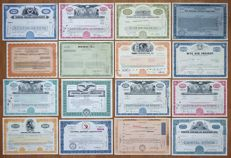 USA - 16x Airline & Aviation Company Stock & Bond Certificates - 1945-1992