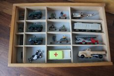 Wooden box for classroom traffic / road safety education -vintage - mid 20th century -the Netherlands