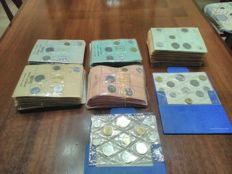 Republic of Italy - 100 UNC mini-series from various years + Divisional series from 1980 and 1981 with silver