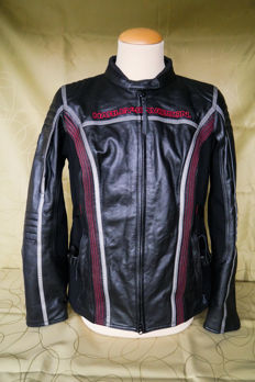 Harley Davidson - Men's Black Leather Jacket - Size XL / L