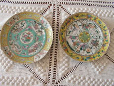 Lot of 2 plates - China - 19th century.