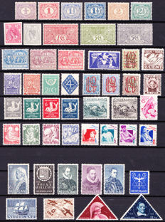 The Netherlands 1899/1936 - collection of various stamps and series