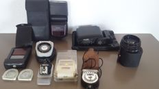 Lot of various items - Stitz Auto TK-62 - Gossen Sixtomat Colour Finder - Fodor - 3 light meters and more...
