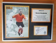 Dennis Bergkamp signed and framed poster