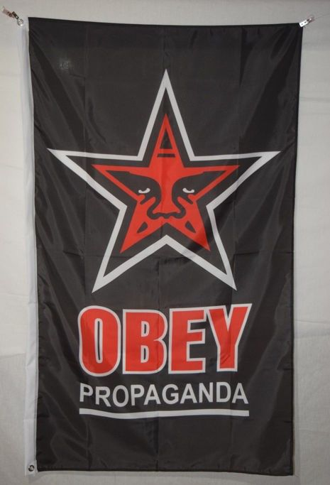 Shepard Fairey (OBEY) - Red Star Flag - OBEY Propaganda
