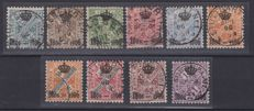 Former German states - 1850 - 1923. Selection of 205 stamps - MH and cancelled, complete series, scraps and some fragments.