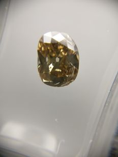1.32 ct Cushion cut diamond Fancy Intense Brown SI2