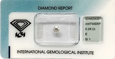 Brilliant-cut diamond 0.28 ct E SI1