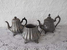 Shaw & Fisher 3 piece tea set