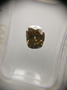 1.11 ct Cushion cut diamond Fancy Deep Brown SI2
