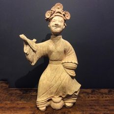 Chinese pottery Female Dancer - H. 76,5 cm