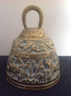 Bronze religious bell with the four names of the Apostles