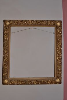 Louis XVI style gilded carved frame, France - circa 1880