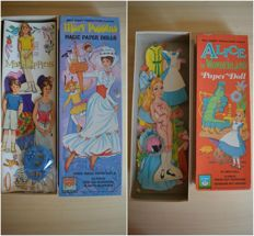 "Disney, Walt - 2x Paper Dolls Walt Disney Productions - ""Mary Poppins"" and ""Alice in Wonderland"" - (1972)"