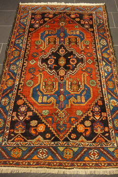 Unique Persian carpet Malayer Mahal excellent wool natural dyes made in Iran 130 x 200 cm