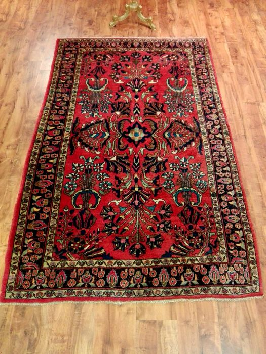 Sarough Iran beautiful hand-knotted rug 135 x 220 cm