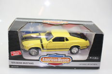 Ertl - American Muscle - scale 1/18 - 1970 Boss Mustang - yellow/black