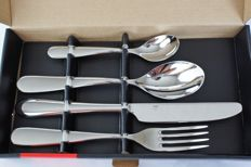 Alessi Nuovo Milano by Ettore Sottsass - Cutlery set 24 pieces - unused