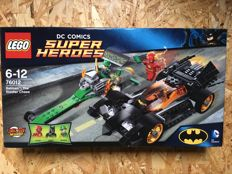 Batman Super Heroes - 76012 + 76034  - The Riddler Chase + Batman DC Comics + The Batboat Harbor Pursuit