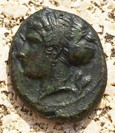 Greek Antiquity - Italy, Sicily Siracusa Hemilitron (405-367 BC) - AE 2,88g.  15mm - CNS: 24; SNG ANS 417 Very fine