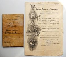 Antique documents - collection of antique documents - Italy - late 1800s/1934