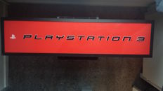 Large illuminated advertising sign of Sony PlayStation 3 (PS3) - 2005-2006
