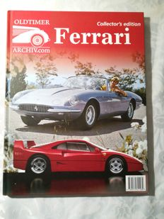 Ferrari Collectors Edition 2013 in German, and a very beautiful black and white Ferrari photo signed by hand by Gerhard Berger 1995