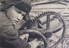 Margaret Bourke White (1904-1971) - ''Shock Brigadier'' from the work ''Photographs of U.S.S.R.""