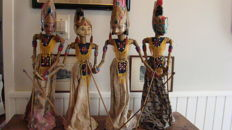 Series of four Wayang Golek puppets - Central Java first half 20th century