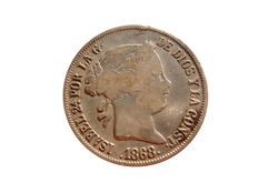 Spain - Isabel II (1833–1868), 20 cents in silver 1868 - Madrid