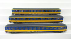 "Roco H0 - 45314/45315/45316 - 3 Express train carriages 1st/2nd class ""ICK"" of the NS."