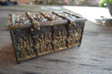 Bronze Apostle box - France - early 20th century