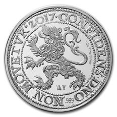 Royal Dutch Mint  (Koninklijke Nederlandse Munt) - 1 oz 999 silver - Netherlands - silver lion dollar (restrike from 1617) - edition of only 25,000 pieces