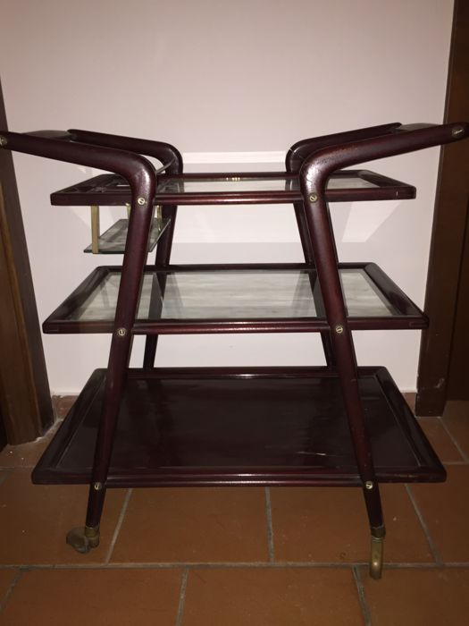 Vintage bottle holder trolley