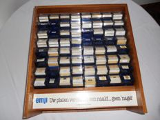 2 Record player display cabinets with 150 new needles