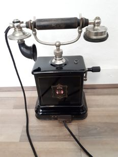 Antique Jydsk telephone, telefon aktieselskab, Denmark, 1st half of the 20th century