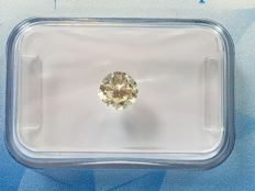 Diamond in brilliant cut 0.56 ct. Tinted Colour P-R SI 1 with HRD  certificate